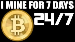 7 DAY$-24/HR$ – BITCOIN MINING EXPERIMENT – See How Much Money I Made :)