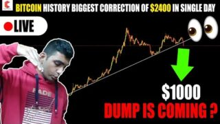 BITCOIN HISTORY BIGGEST DROP $2400 in a single day, IS BTC DUMP TO $1000 – CRYPTOVEL