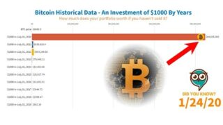 Bitcoin Price History – An Investment of $1000 (2010-2020)