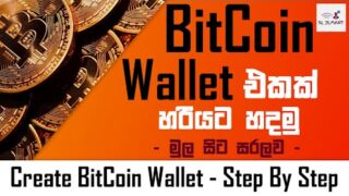 How to create a Bitcoin Wallet-(CryptoCurrency-Bitcoin,Ethereum,etc)-Sinhala