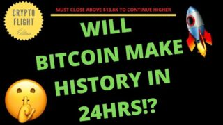 WILL BITCOIN (BTC) MAKE HISTORY IN THE NEXT 24HRS!! MUST WATCH THIS VIDEO NOW!!