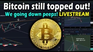 Bitcoin IS Topped Out Livestream! WE are going to DROP soon! Macro and micro BTC price targets & TA